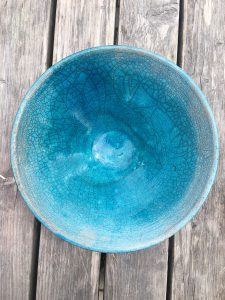 raku fruit bowl